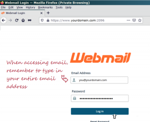 Secure Access to Webmail