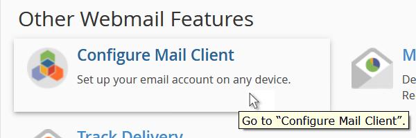 cPanel - configure mail client