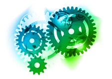 Group Working Together Like Gears